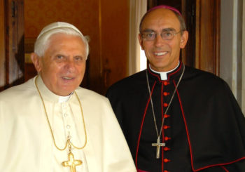 Pope Benedict XVI & Archbishop Sylvain Lavoie