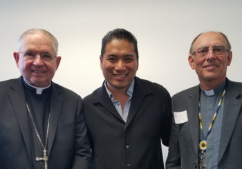 Archbishop Jose Gomez, Archbishop Sylvain Lavoie, Keith Hoang